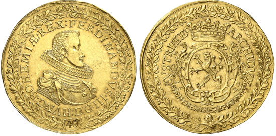 1629 Ferdinand III Gold Coronation Coin Sells for $461,000