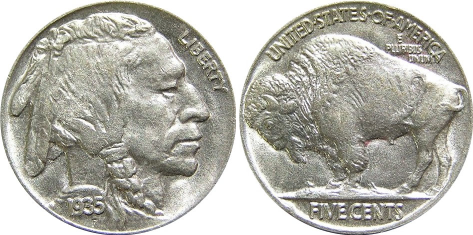 buffalo nickel –1938 values and