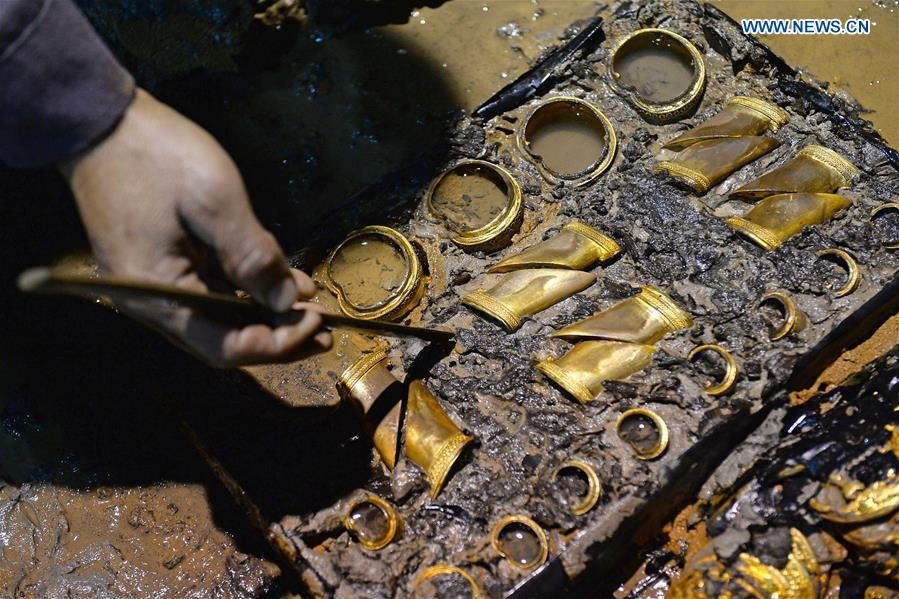 """Gold Coins and """"Hooves"""" Found in Another Ancient Chinese Tomb"""