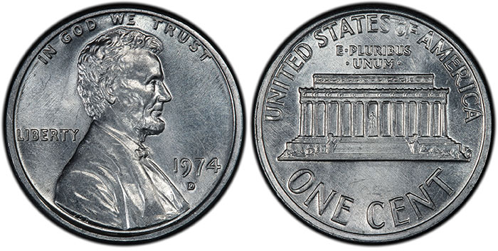1974-D Aluminum Penny Goes On Display