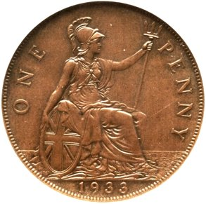 Britain's Famous 1933 Penny Sets Record