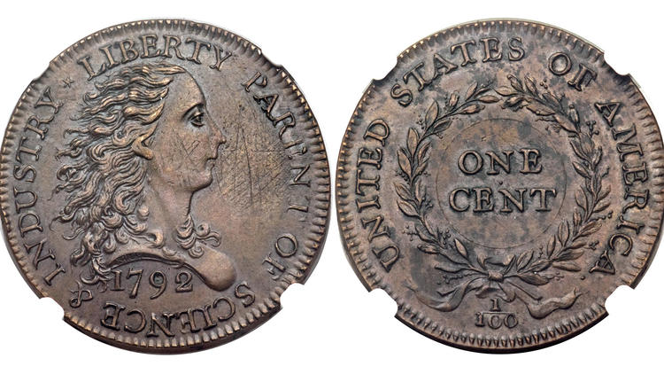 Colonial Large Cents Sell for $870,000