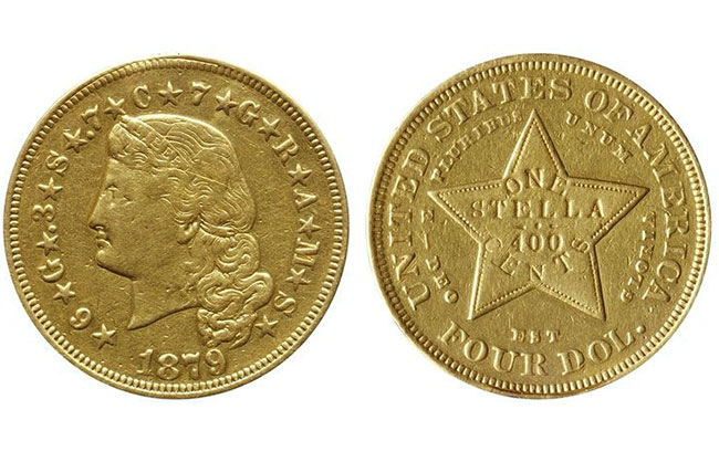 Gold Stella $4 Coin Goes to Auction