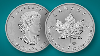 Buy canadian silver maple leafs