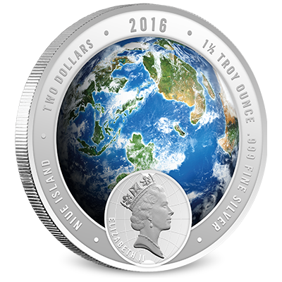 2016 Discovery Channel Africa Silver Coin Obverse