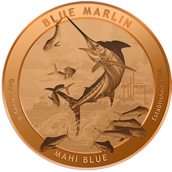 Guy Harvey Blue Marlin Copper Rounds