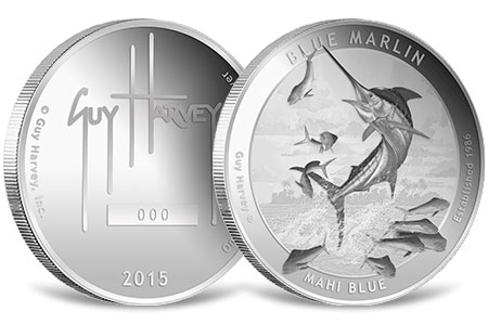 Blue Marlin Proof Silver Round