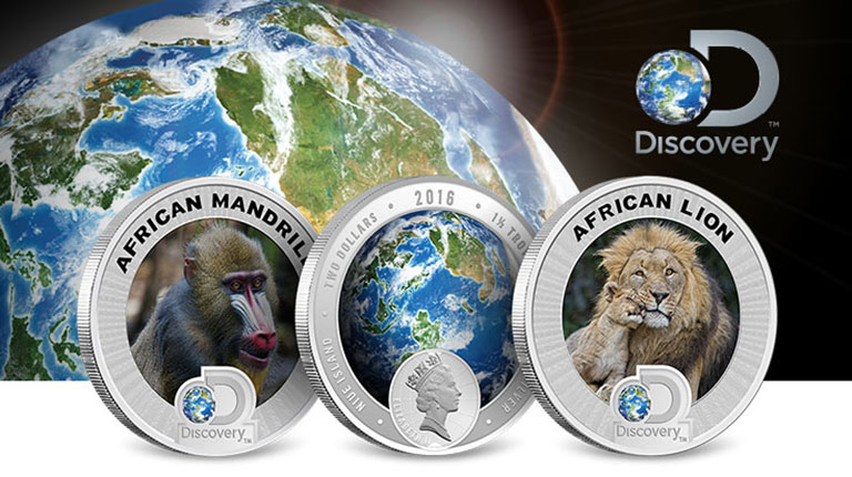 Discovery Channel Africa Silver Coins