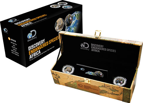 2016 Discovery Channel Endangered Species Africa 2 Coin Proof Silver Set