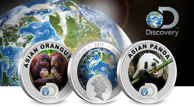 Discovery Channel Asia Silver Coins