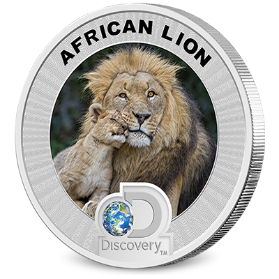 2016 Discovery Channel Africa Silver Coin Lion