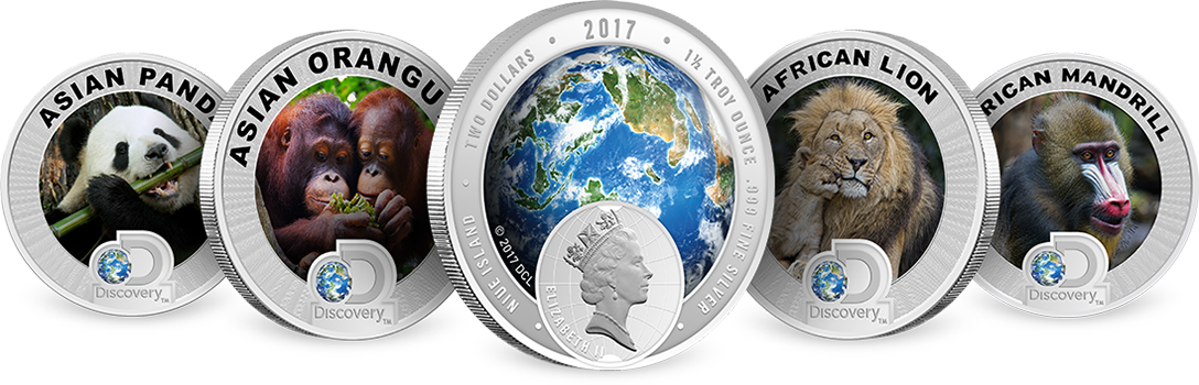 Discovery Channel Silver Coins