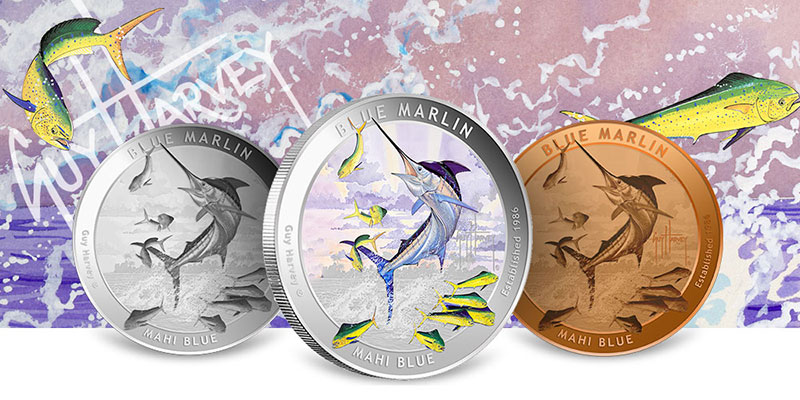 Guy Harvey Blue Marlin Silver Rounds
