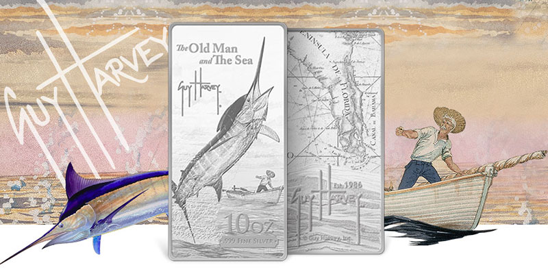 Guy Harvey Old Man And The Sea Silver Bars