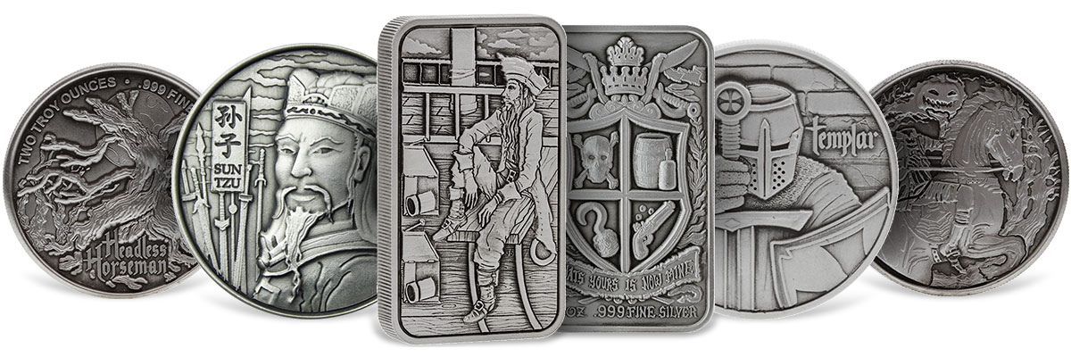 High Relief Silver Rounds and Bars