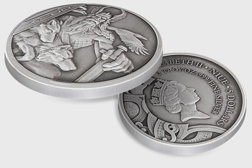 Odin Double Ultra High Relief Silver