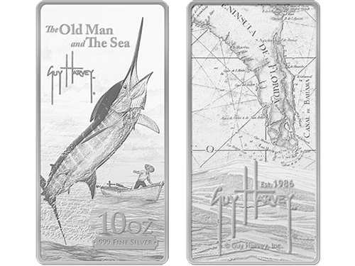 Guy Harvey Old Man And The Sea Silver Bar