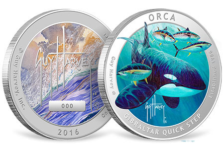 Orca Proof Colorized Silver Round