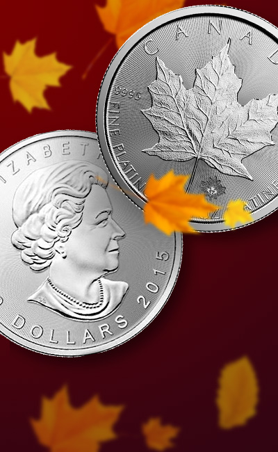 1 oz Canadian Platinum Maple Leaf - Random Date