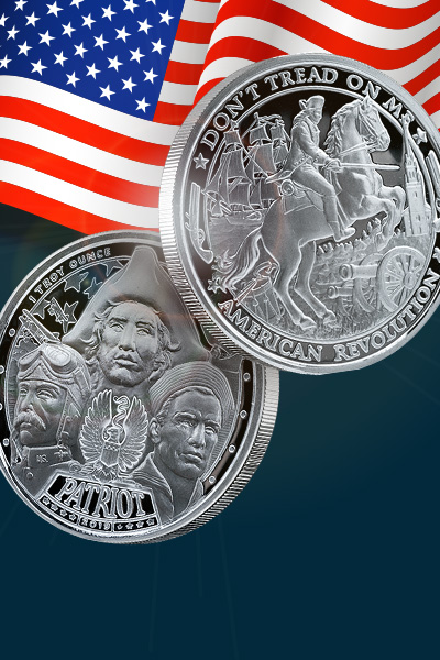 2019 Patriot 1 oz Proof Like Silver Round - American Revolution