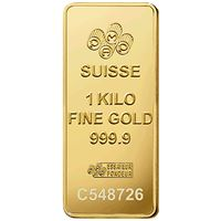 kilogram gold bar pamp suisse