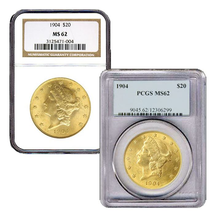 Gold U.S $20 Liberty Double Eagle PCGS MS 62 ** Random Dates