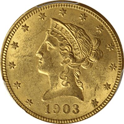 $10 liberty gold eagle extremely