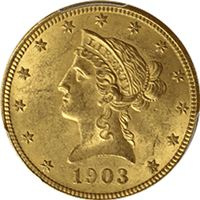 $10 liberty gold eagle about