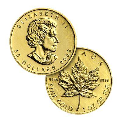 canadian maple leaf $50 gold