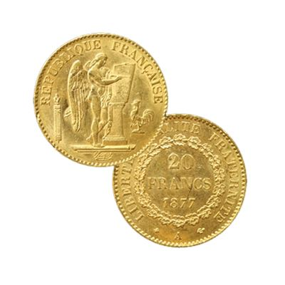french franc gold angel random