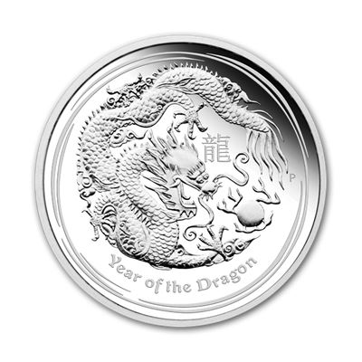 year the dragon silver typeset