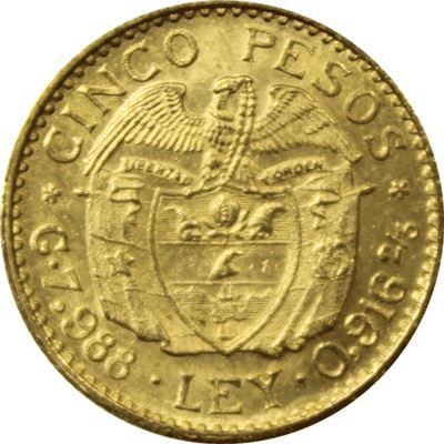 colombia pesos gold coin gold