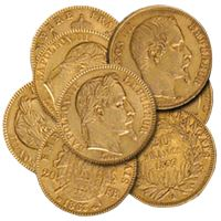 gold french francs napoleon gold