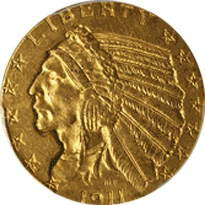 $5 indian gold half eagle