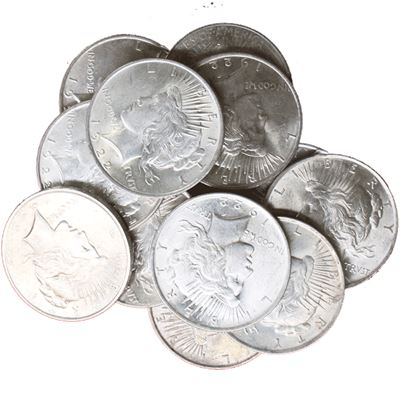 peace silver dollar uncirculated common
