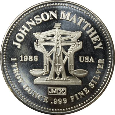 silver round johnson matthey freedom