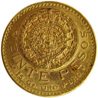 mexican gold pesos coin gold