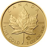 gold canadian maple leaf random