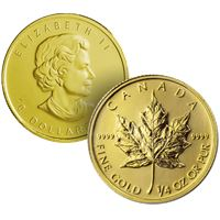 canadian maple gold coin random
