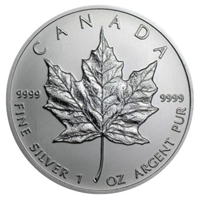 canadian maple leaf silver pure