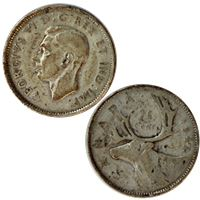 king george canadian silver cent