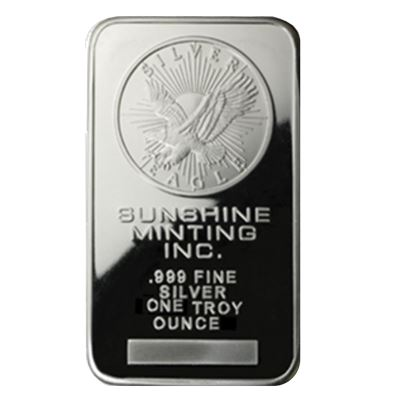 sunshine mint silver bar fine