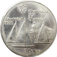 $5 canadian olympic silver coin