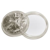 plastic coin capsule fits american