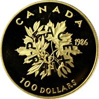 canadian $100 proof gold peace
