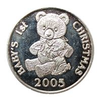 baby christmas silver art round