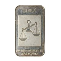 silver art bar libra zodiac