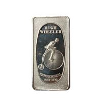 high wheeler silver art bar