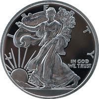 walking liberty silver round new