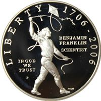 benjamin franklin mint commemorative silver